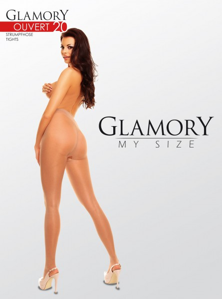Glamory Ouvert - lucido plus size collant con open crotch